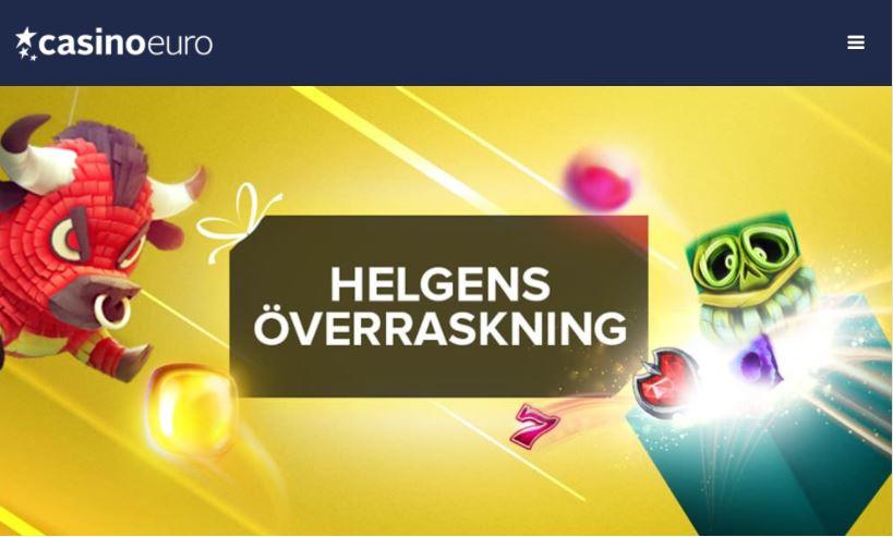 helgens gratissnurr på casinoeuro