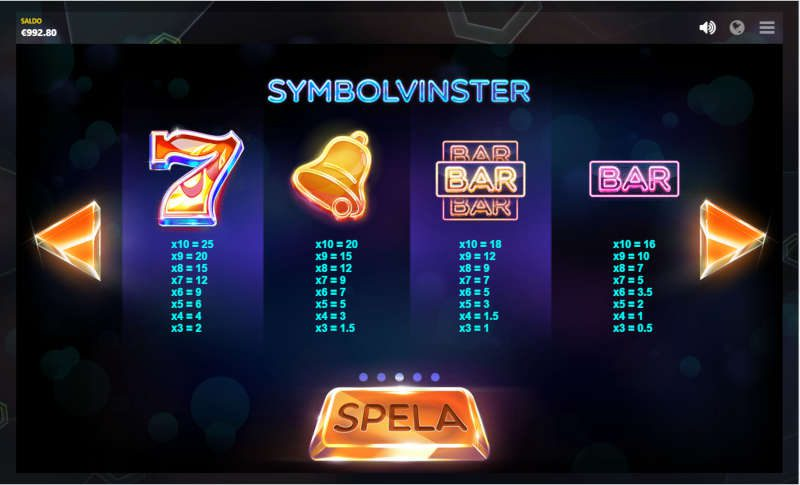 slotsymboler i laser fruit