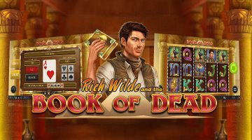 Banner för book of dead casino