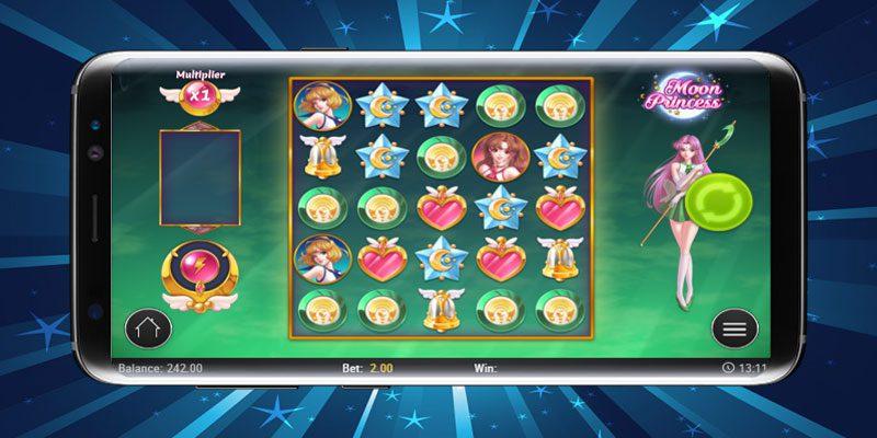 spela moon princess i mobilen