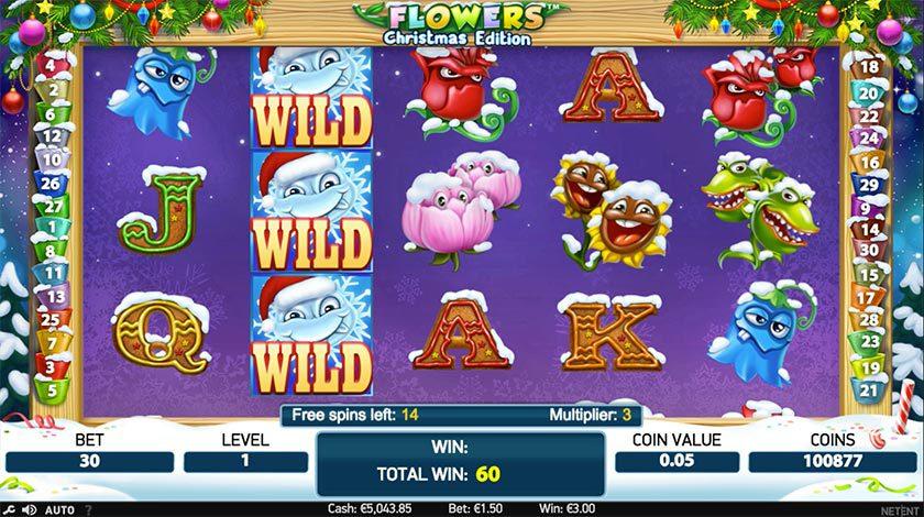 spelupplägg med blomster tema